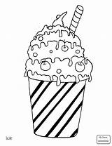 Coloring Pages Cocktail Milk Pancake Sheets Printable Ice Cream Drinks Desserts Housework Adult Sheet Getdrawings Results Categories sketch template