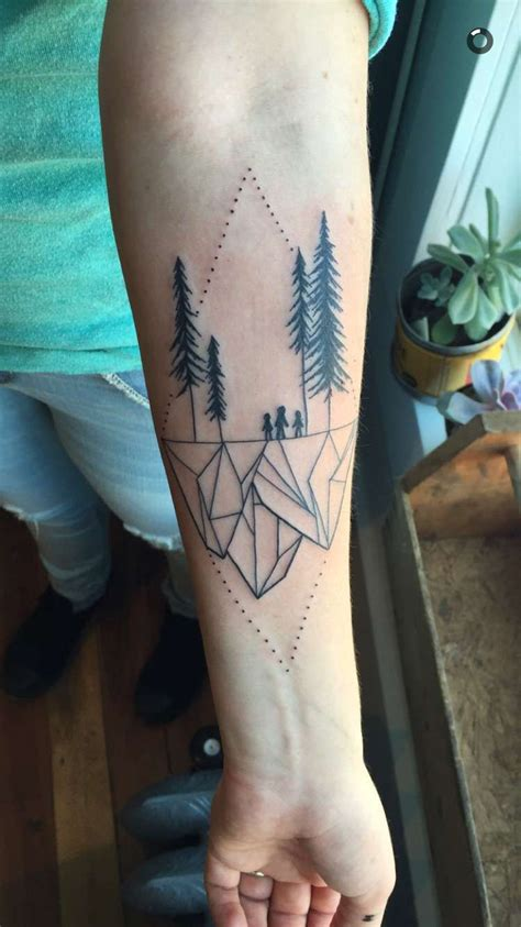 geometric landscape tattoo  vanessa dong vancouver bc