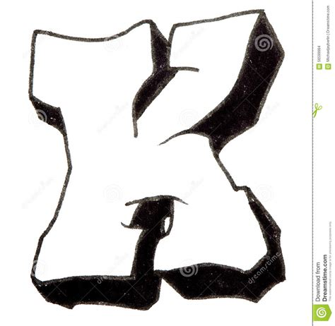 letter  alphabet  graffiti style stock photo image