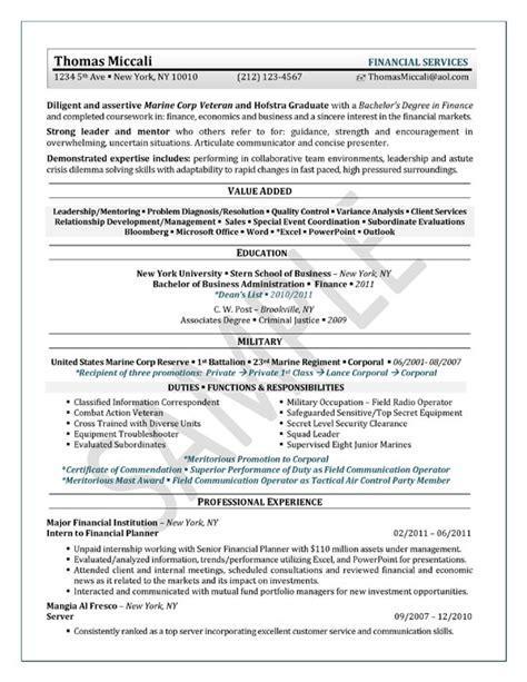 student resume exle sle
