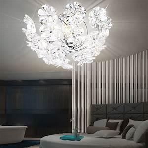 Lampen Für Schlafzimmer : dekorative deckenlampe in chrom mit bl ten phoenix lampen ~ Pilothousefishingboats.com Haus und Dekorationen