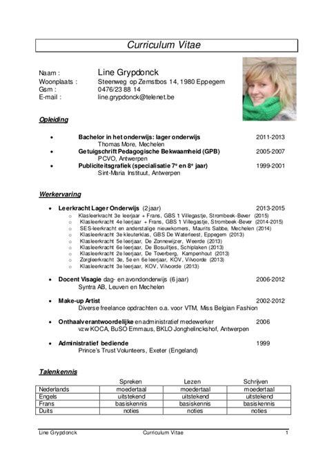 curriculum vitae sle slideshare curriculum vitae line grypdonck 2015