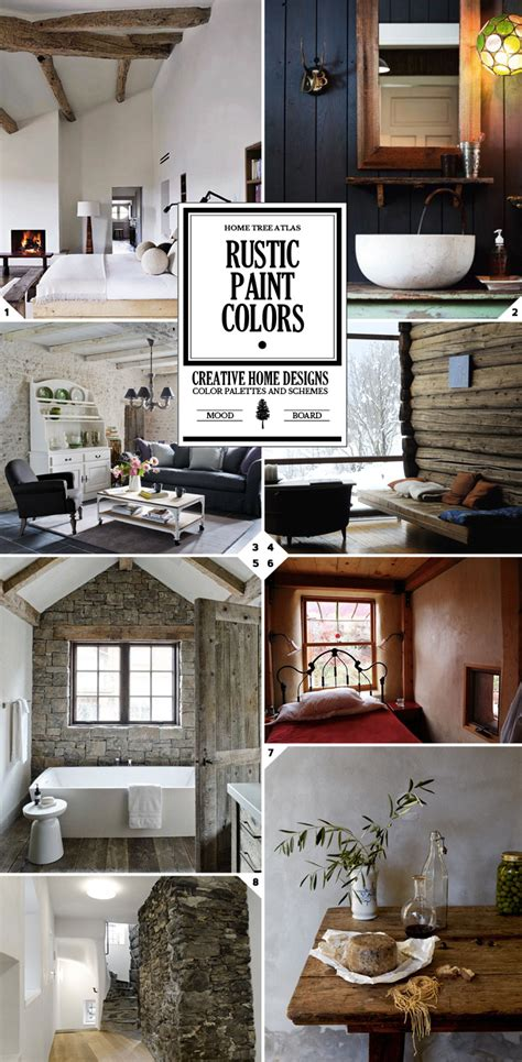 rustic paint colors and textured wall designs interior