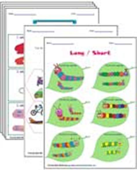 size comparison worksheets