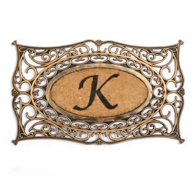 monogram  doormat kirkland home decor monogram letter