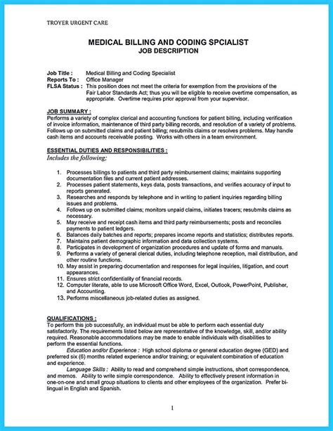 Billing Specialist Resume Exles by Exciting Billing Specialist Resume That Brings The