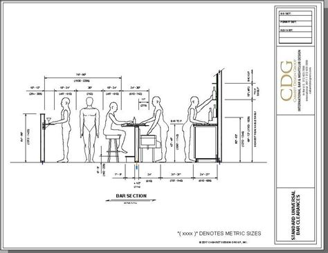 Bar Dimensions by What Are The Best Dimensions For Bar Design If You Follow