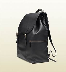 a2d6b877ca5 Gucci Black Leather Backpack in Black for Men