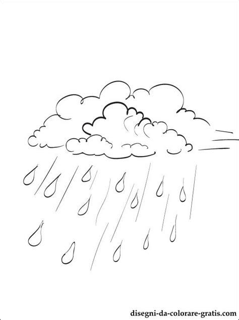 disegno  pioggia autunnale da colorare disegni da