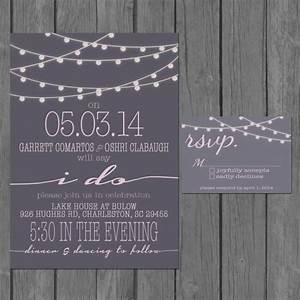 simple wedding invitation modern strings of lights With wedding invitations for party only