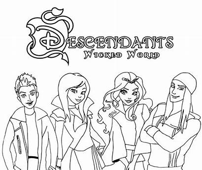 Descendants Coloring Pages Wicked