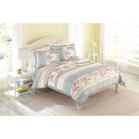 better homes and gardens bedding better homes and gardens country chic bedding quilt walmart com