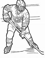 Colouring Hockey Ouellette Mcdavid Connor Caroline sketch template