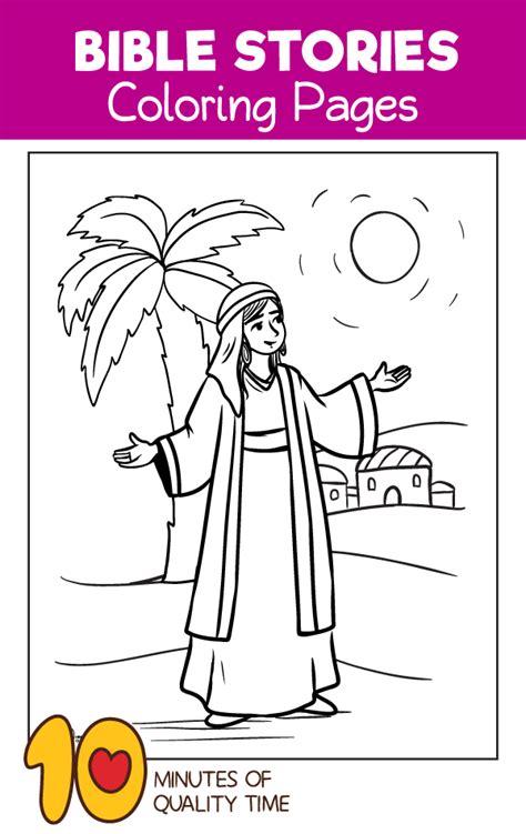 deborah  prophetess coloring page  minutes
