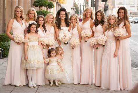 Blush Bridesmaid Gowns From Real