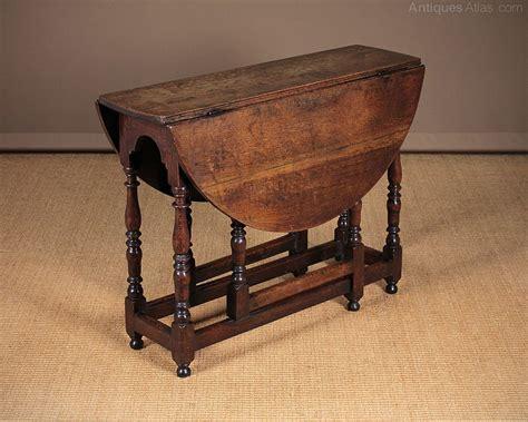 small oak gateleg supper table  antiques atlas