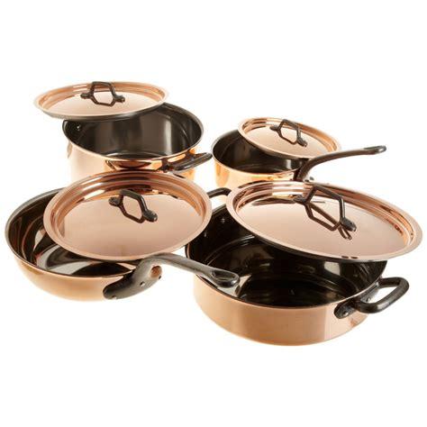 matfer bourgeat   piece copper cookware set