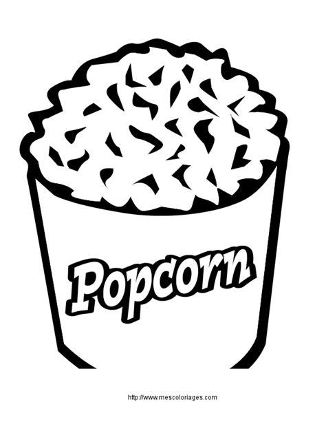 dessiner cuisine 3d coloriage nourriture popcorn à colorier allofamille