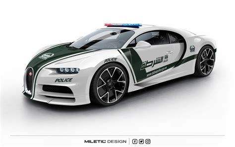 A Bugatti Chiron For Dubai's Police Force Could Look Like