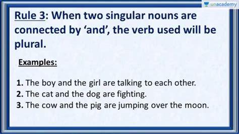 subject verb agreement rule    singular nouns