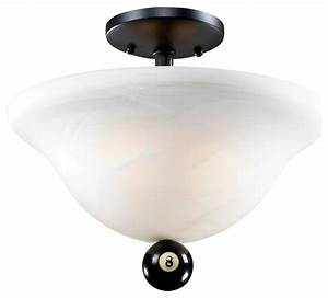 Landmark lighting billiard light semi flush