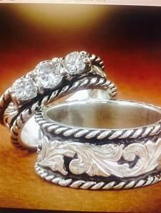 western wedding set fanning jewelry wedding pinterest With western wedding ring sets