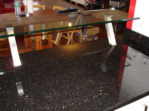 cuisine ikea inox granits déco plan de travail en granit galaxy finition polie