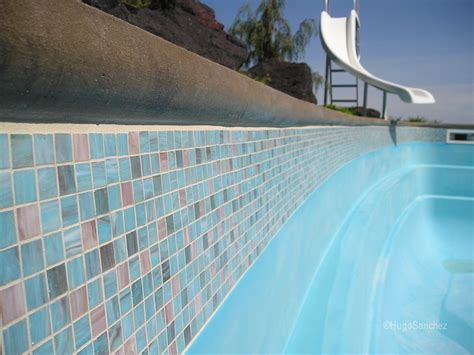 Fiberglass Pool Waterline Tile by Bisazza Glass C 233 Ramiques Hugo Inc