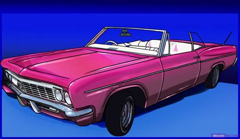 How To Draw A Lowrider Step By Step Cars Draw Cars