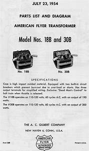 American Flyer Transformer 18b  U0026 30b Parts List And