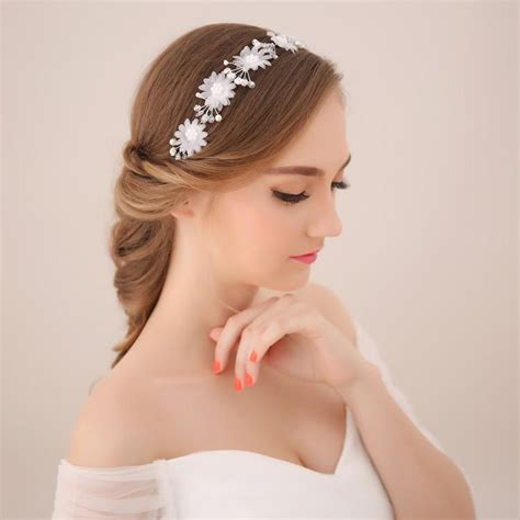 high grade bride diamond hair band south korean wedding