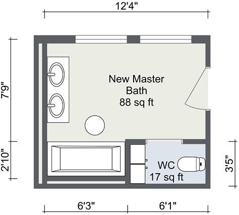 Master Bedroom With Bathroom Floor Plans by Bathroom Layout Roomsketcher