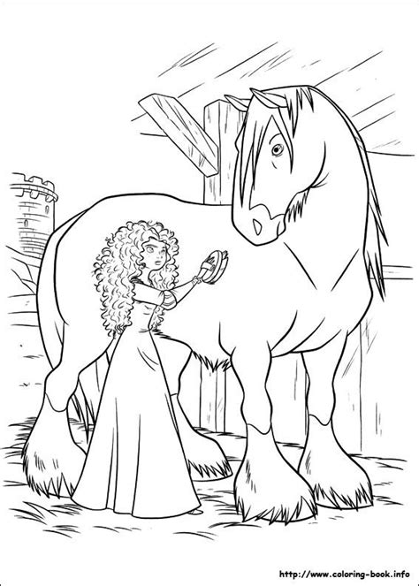 brave coloring pages   coloring horse coloring