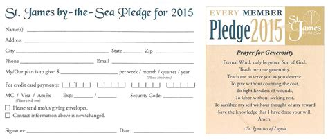 pledge card stewardship st by the sea