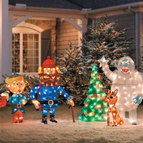 Rudolph Outdoor Decorations - 60 s tv rudolph the reindeer 12 pc pre lit anniversary
