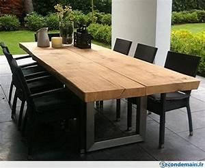 Pied De Table Metal Industriel : pieds de table vintage industry pr plateau planche de ~ Dailycaller-alerts.com Idées de Décoration