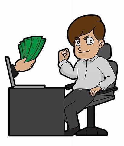 Money Cartoon Svg Guy Making Ways Creative