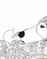 Dogs Million Canines Fabulous Adultcolouring sketch template