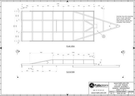 box auto dwg 2 5 tonne car trailer fabplans these easy to follow box