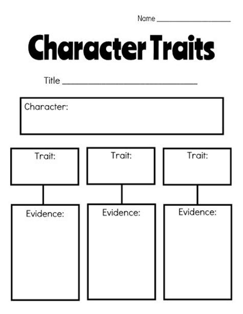character chart template 25 best ideas about character traits graphic organizer on list of character traits