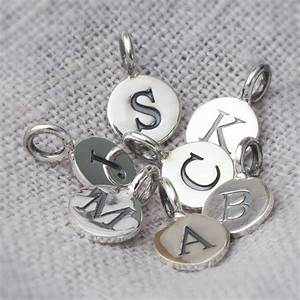 sterling silver embossed letter charms by bloom boutique With silver letter charms