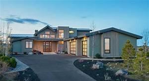 modern three-bedroom house plan