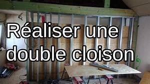 Faire Une Cloison De Separation : monter une cloison double etape par tape osb plaque pl tre structure m tallique youtube ~ Melissatoandfro.com Idées de Décoration