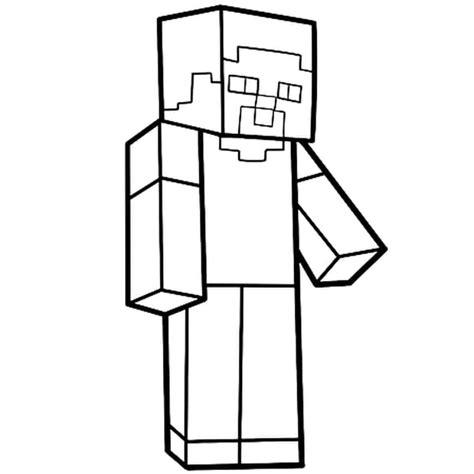 sta e colora minecraft coloriage steve personnage de minecraft en ligne gratuit 224