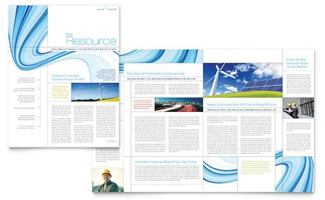 renewable energy consulting newsletter template word