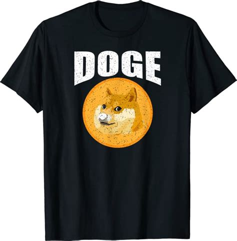 Doge Dogecoin Crypto Cryptocurrency Vintage T-Shirt ...