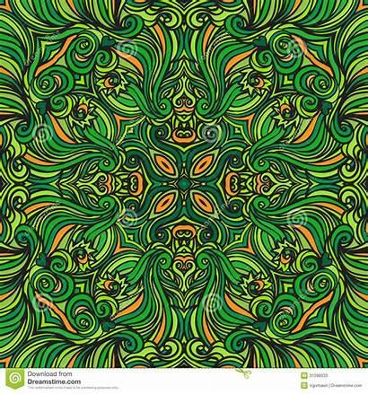 Pattern Dark Mandala Naadloos Patroon Donkergroen Rond