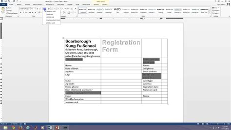 microsoft word fillable form word 2013 fillable forms