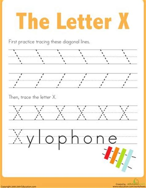 letter x worksheets education 1000 images about letter x worksheets on the