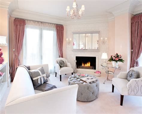Mix Of Grey And Pink For Chic Living Room Decor (part 1 French Lamp Shades Reading Table Lamps Samsung Dlp For Bedroom Branch Tv Porcelin Oil
